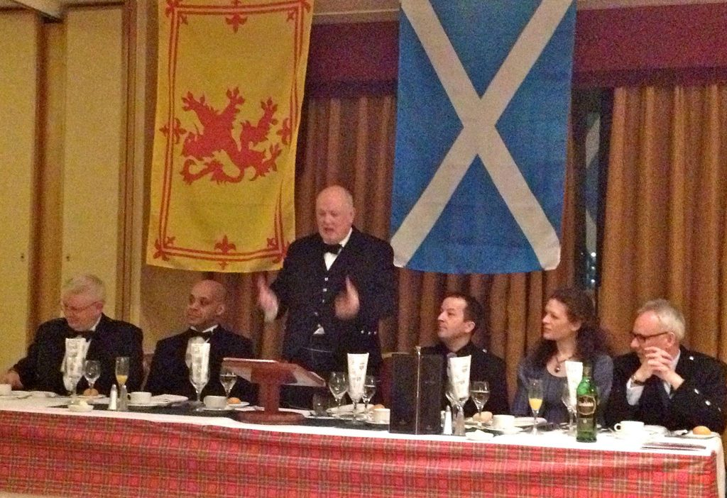 Stuart Compering a Burns Supper in Glasgow