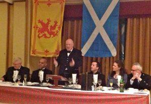 Stuart Compering a Burns Supper in Glasgow