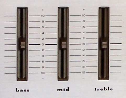 Bass Treble Slide Controls