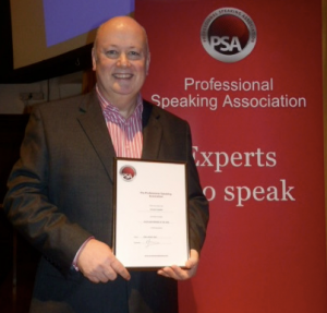Stuart Harris being presented with Fellowship of The PSA